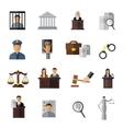 Judicial System Icon Set vector image