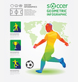 Soccer Infographic Geometric Concept Design vector image
