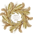 Watercolor cereal wreath vector image