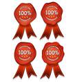 Wax seals with ribbons vector image