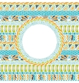 Colorful ethnicity round ornament mosaic vector image vector image