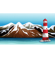 Tall building in the sea vector image
