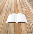 Blank catalog magazinesbook mock up on wood vector image vector image