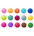 colorful fluffy pompom fur balls isolated vector image