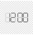 digital clock display concept vector image