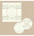 weddding vintage cards set vector image