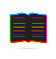 Book icon with shadow vector image