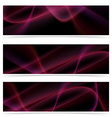 Neon glow swoosh line header collection vector image vector image