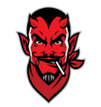 devil rider head mascot vector image