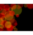 abstract glowing lights vector image vector image