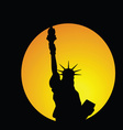 statue of liberty in new york in colorful vector image