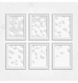 White frame set vector image
