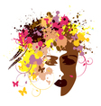 Abstract womans face vector image