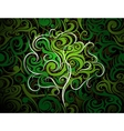 Artistic tree shape vector image