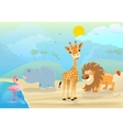 cute jungle animals and vector image