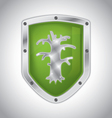 Eco-friendly security shield vector image