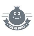 fresh juice logo vintage style vector image