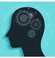 Gear Head Brain vector image