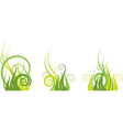 green abstract pattern vector image