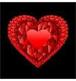 heart from many rubies vector image