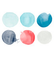set of watercolor shapes vector image