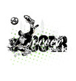 soccer player vector image