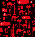 Turkey symbols seamless pattern Turkish national vector image