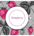Abstract frame with strawberries in a pop art vector image vector image