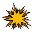 yellow star speech comic talk comic vector image