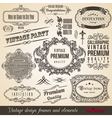 Calligraphic Element Border Corner Frame and Invit vector image