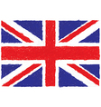 closeup of a united kingdom flag vector image