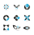 blue logo elements vector image vector image
