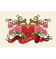 Heart with Roses vector image