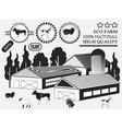 Set of premium Cow goat lamb turkey beef labels on vector image