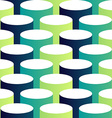 Abstract isometric 3d circle pattern background vector image