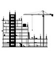 construction site on a white background vector image