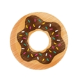 delicious donut dessert vector image