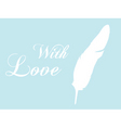 feather quill vector image