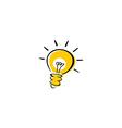 light bulb idea logotype vector image