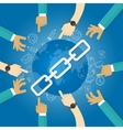 link building seo search engine optimization world vector image