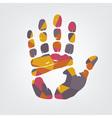 Mosaic handprint vector image