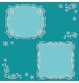 set floral frame vector image