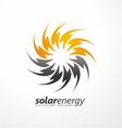 Solar energy logo design concept vector image
