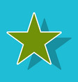 star sticker icon flat rank favorite web symbol vector image