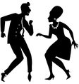 The Twist silhouette vector image