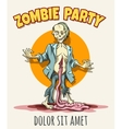 Zombie Party Poster vector image