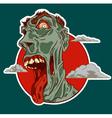Zombie smile vector image