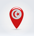Tunisian icon point for map vector image