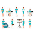 business working women in smart suit isolated on vector image