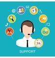 Customer Support Service vector image
